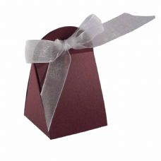 Maroon Round Top Designer Favour Boxes
